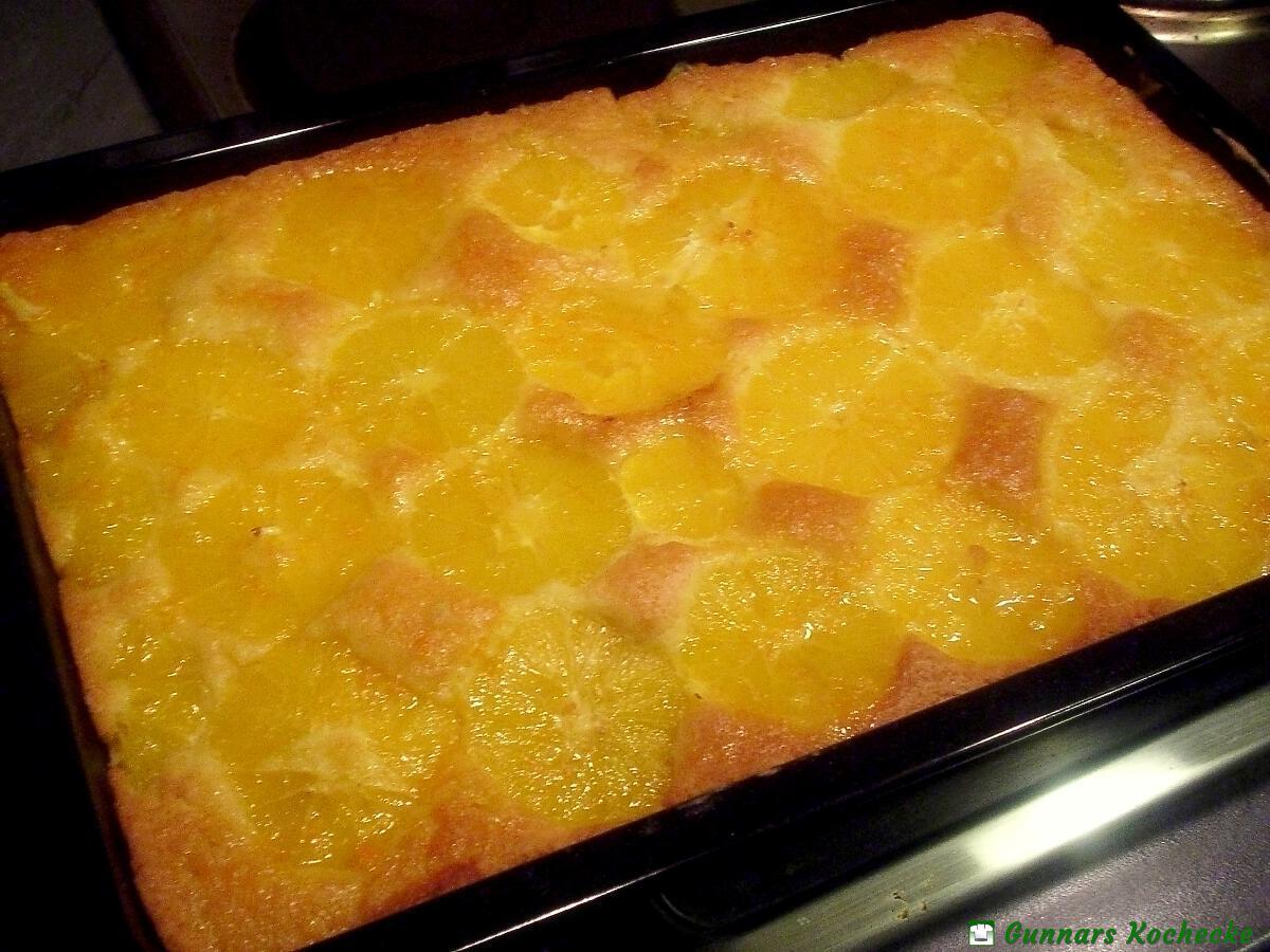 Saftiger Orangenkuchen Vom Blech Gunnars Kochecke