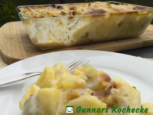 Kohlrabi-Kartoffelauflauf