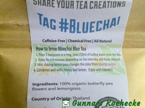 BlueChai: Inhalt und Zubereitung