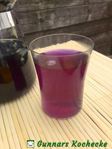 BlueChai (mit Zitronensaft)