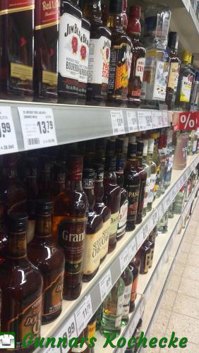 Whisky-Auswahl im Supermarkt