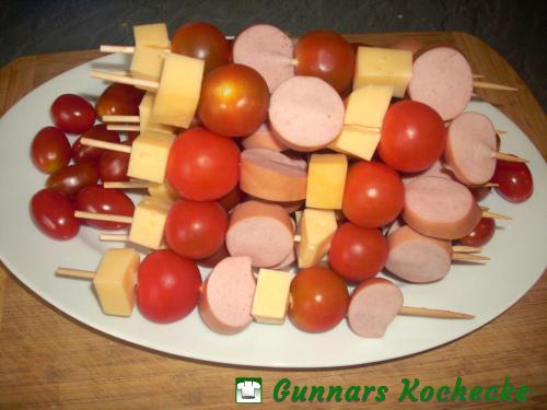 Käse-Wurst-Spieße