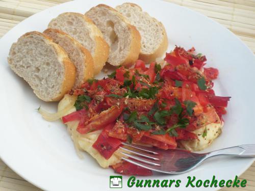 Feta mit Gemüse aus dem Ofen