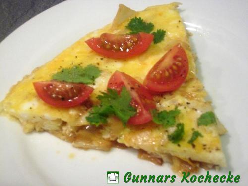 Chinakohl-Omelette mit Tomaten und Koriander