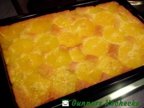 Saftiger Orangenkuchen vom Blech