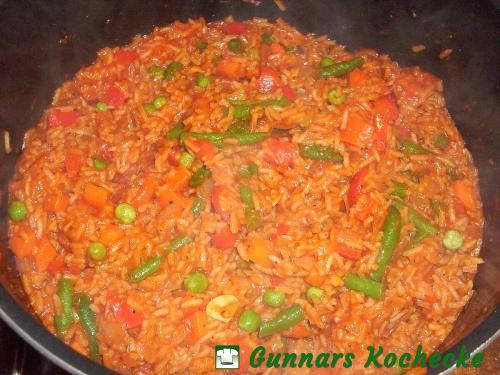 Tomaten-Gemüse-Reis