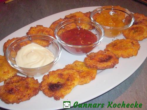 Tostones - Frittierte Kochbananenchips
