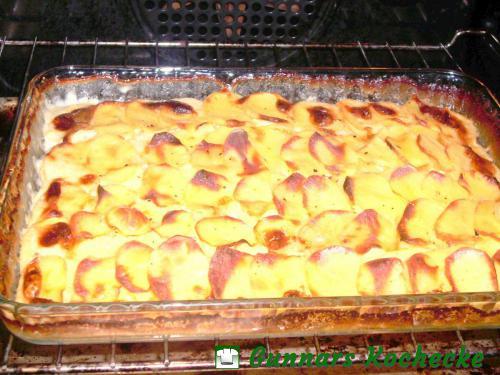 Kartoffelgratin im Ofen