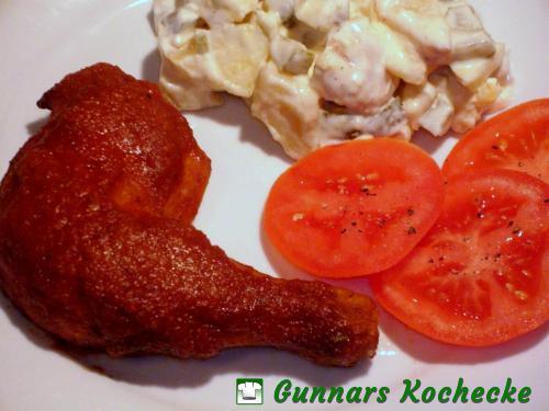 BBQ-Hähnchen mit Kartoffelsalat