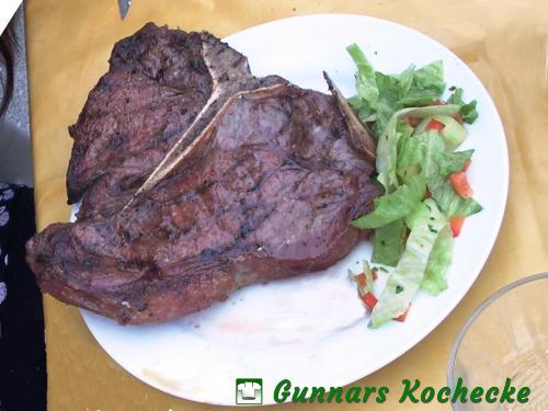 Gegrilltes T-Bone-Steak